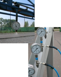 Equipment to measure pressures at the nozzle