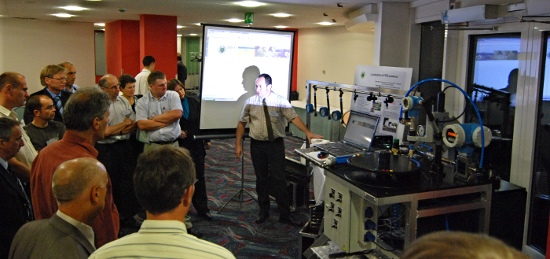 ITEQ demo at SPISE III: flowmeter test bench and software